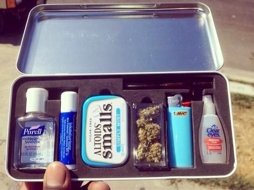 I have one of these, stoner emergency kit :) Please Like And Share Our Page On Facebook! - http://www.facebook.com/pages/Weed-Kingdom/405880836165508?ref=hl  Dont forget to repin too!