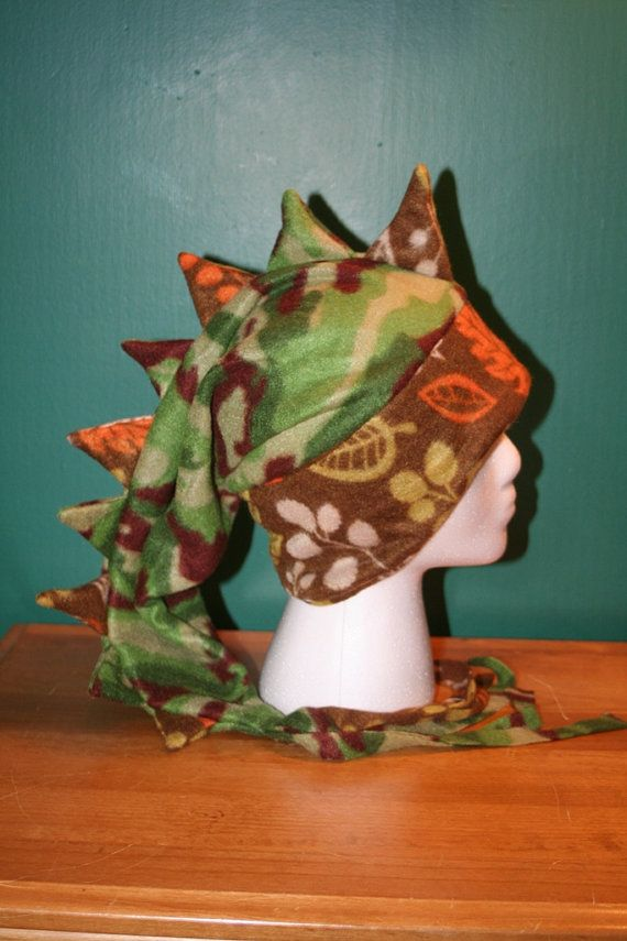 REDUCED 25% Green Camouflage Hunter Orange Brown by thelopsidedfrog, $15.00