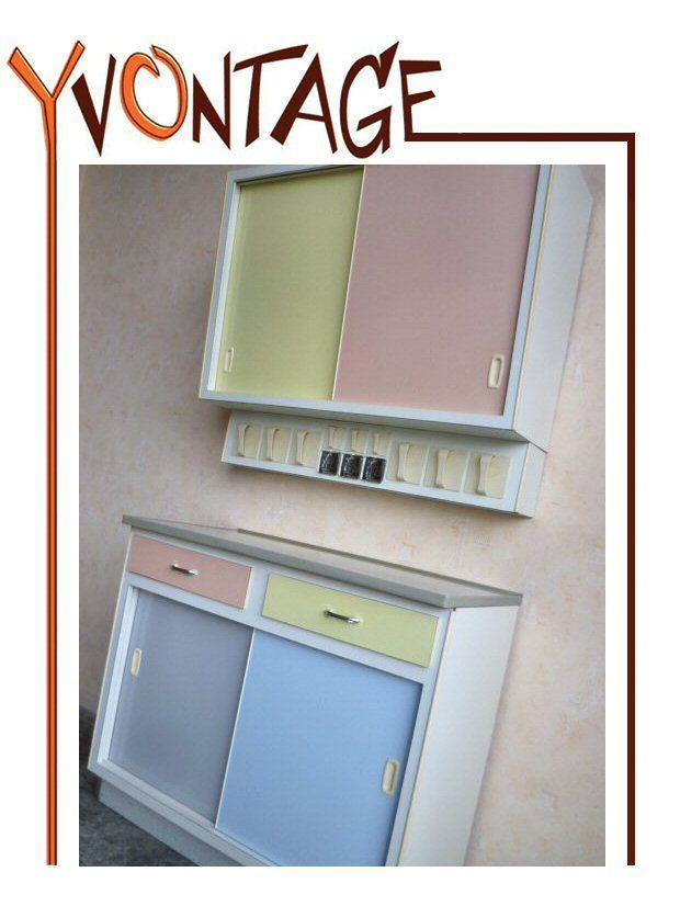 Küchenschrank Küchenbuffet Hängeschrank Küche Pastell 50er 60er ...