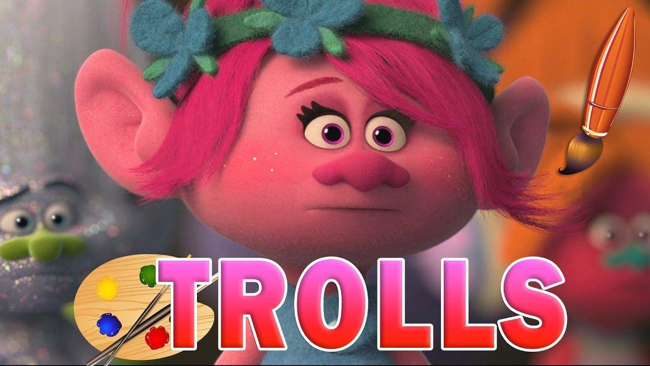 Coloring Pages Trolls : Poppy trolls movie kids coloring book video coloring pages for