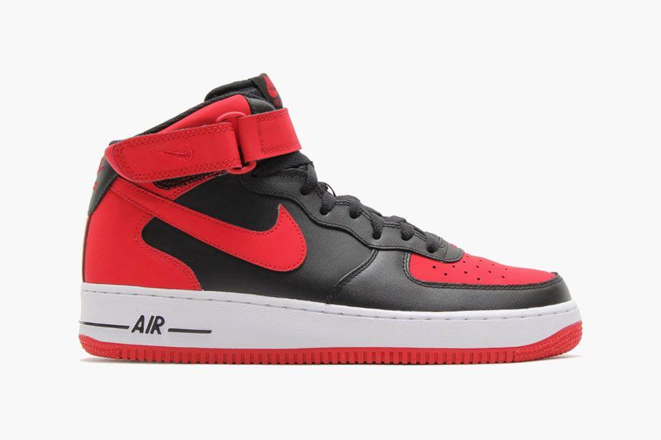 Nike Air Force Rot Schwarz