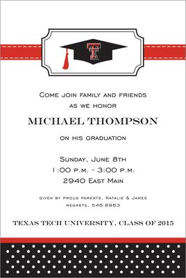 Texas Tech University Invitations Red Raider Party Supplies