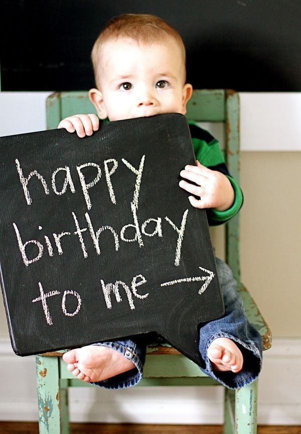 First birthday ideas- The picture is a cute idea for a card invitations