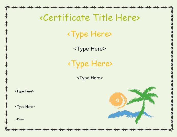 Blank Certificate - Beach CertificateStreet Business - seeabruzzo resume template builder