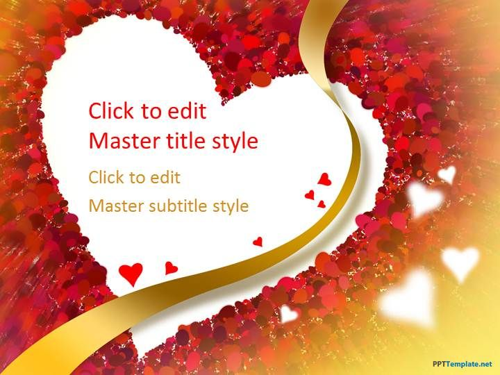 Free Love Heart PPT Template Places to Visit Pinterest Heart - love templates free