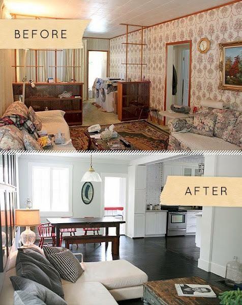 Recordamos el antes despu s de una casa incre ble - Decoracion de casas antes y despues ...