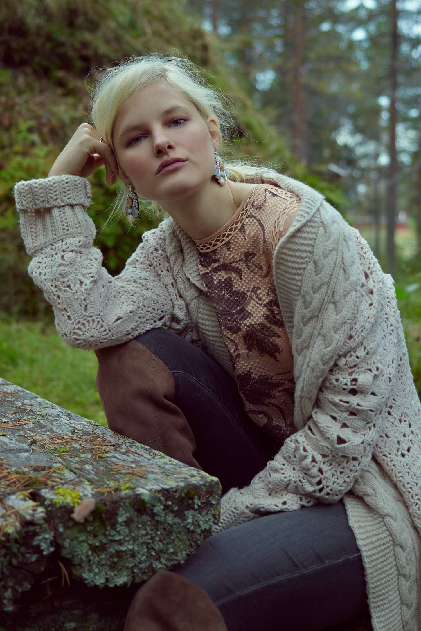 Handknit Star-Stitch Cardigan by Angel of the North - Found on HeartThis.com @HeartThis
