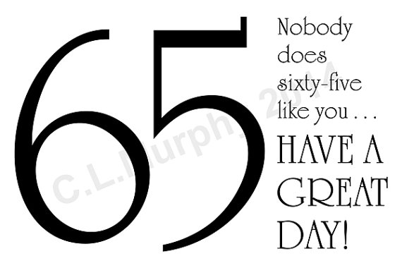 DOWNLOAD 65th Birthday Card Turning 65 Happy Friend Milestone H