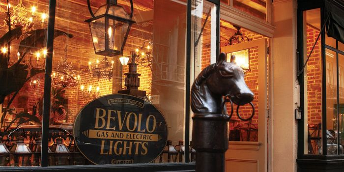 The Bevolo Gas And Electric Lights Storefront On Royal Street In New Orleans River Dunes Inspiring Interiors Gas Electric Gas Lights Gas Lanterns