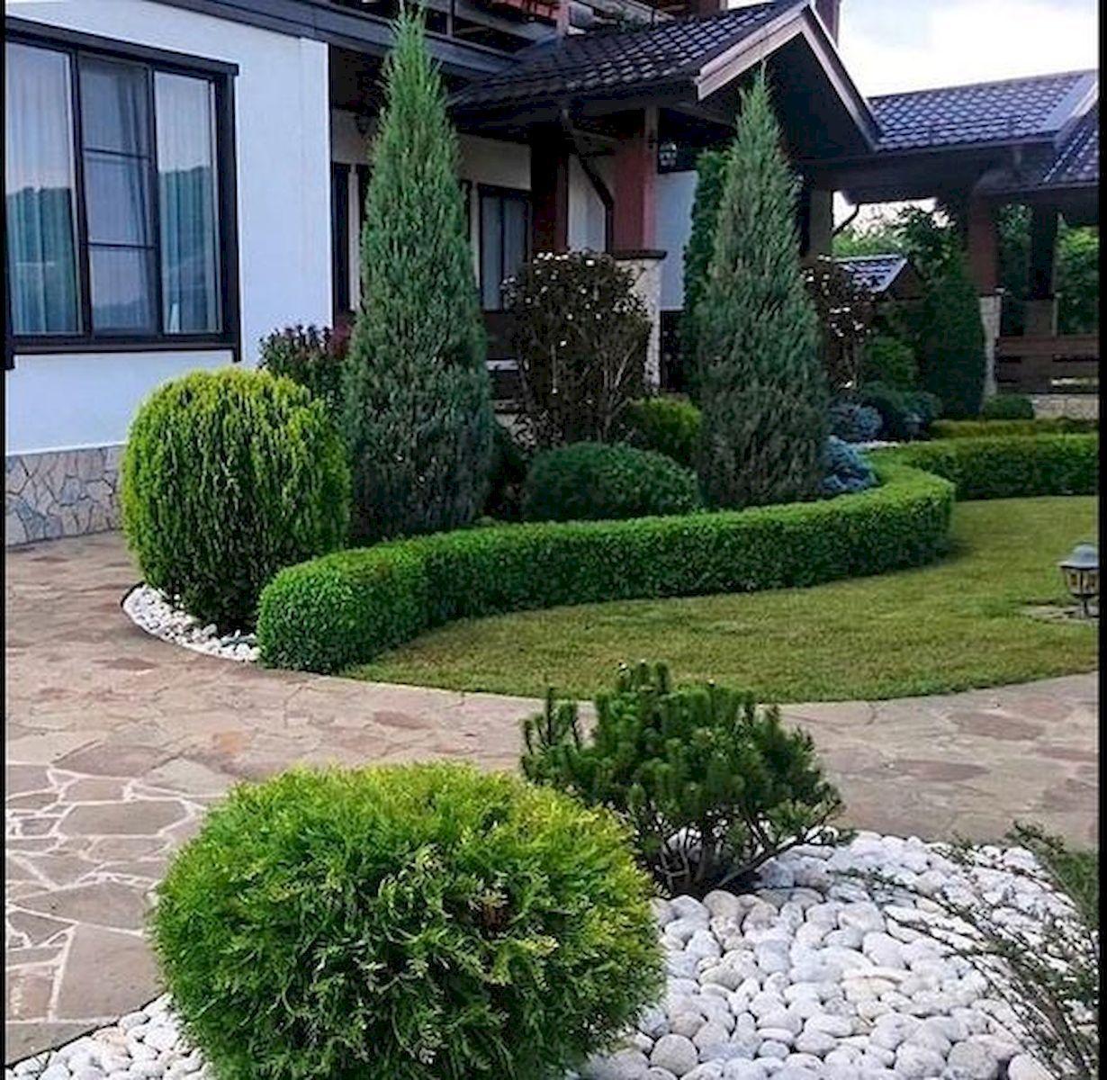 Garden Ideas Designs And Inspiration: 60 Beautiful Front Yards And Backyard Evergreen Garden