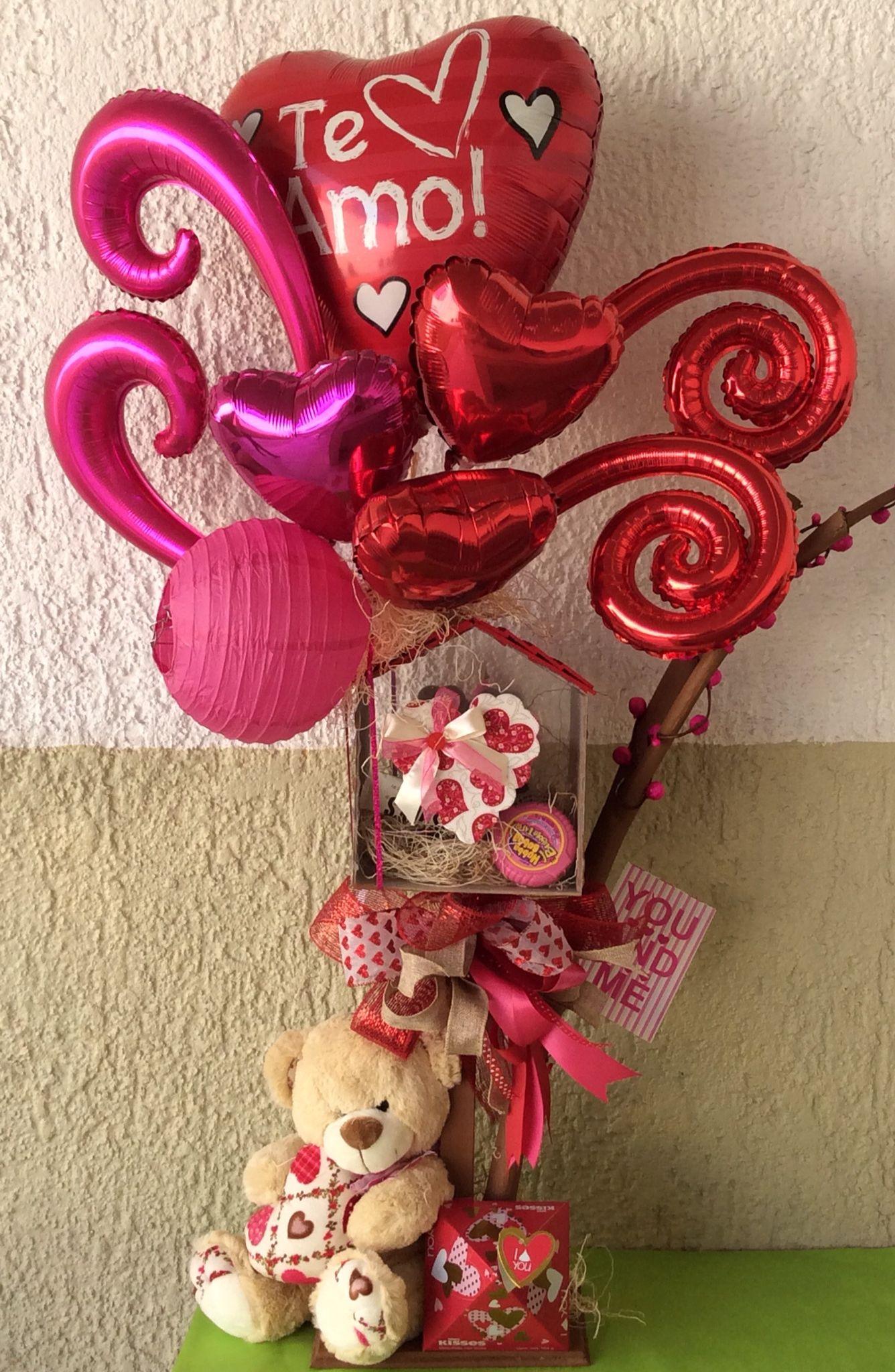 Arreglo amor arreglos con globos y chocolates para el 14 de febrero pinterest candy - Ideas para sanvalentin ...