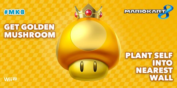 Nintendo Meme Of The Day Got A Golden Mushroom In Mario Kart 8 Mario Kart Mario Kart Memes Mario Kart Wii
