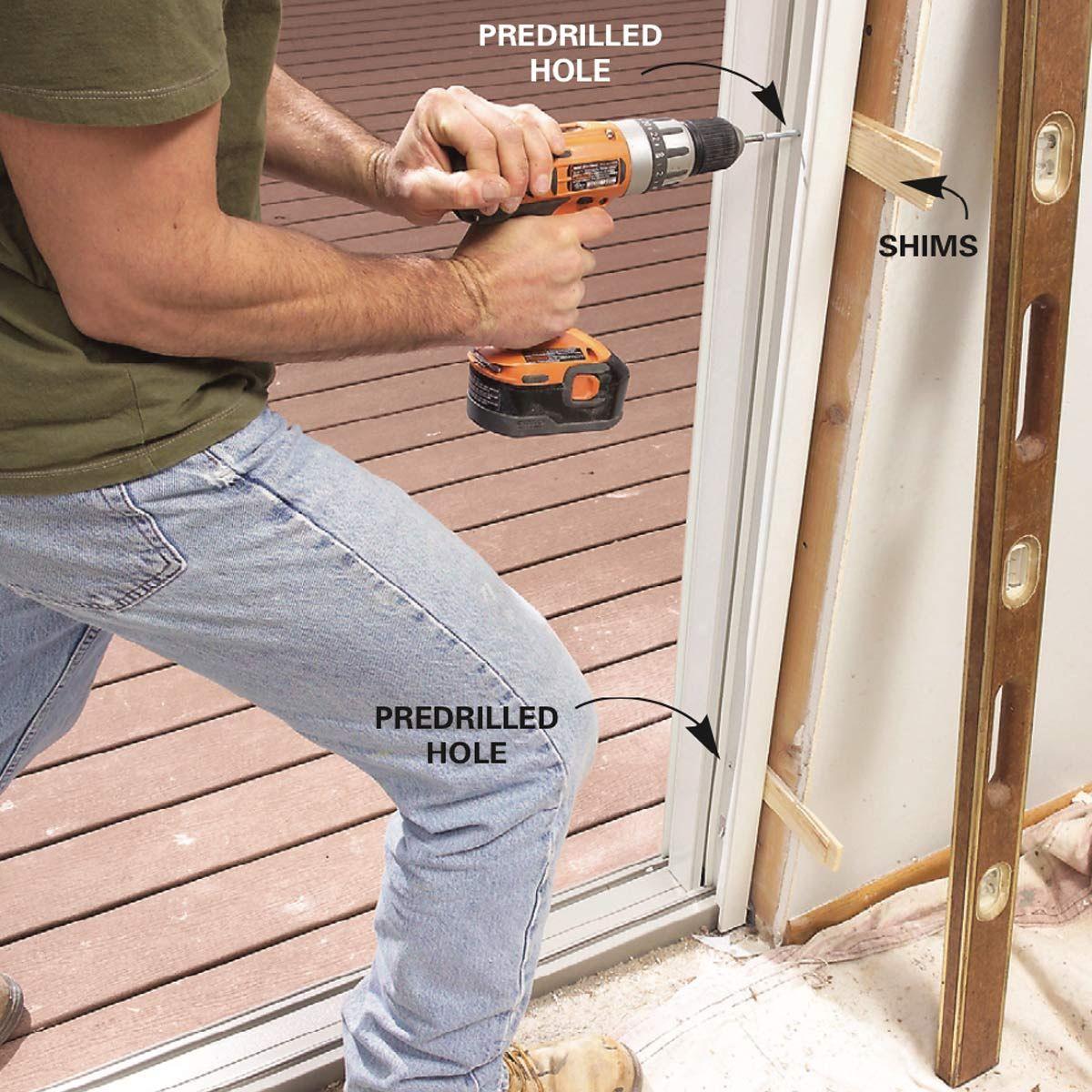 How to Replace a Patio Door in 2020 Sliding glass door