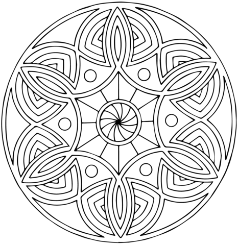 Celtic Mandala With Flower Coloring Page Mandala Coloring Pages Mandala Coloring Celtic Mandala