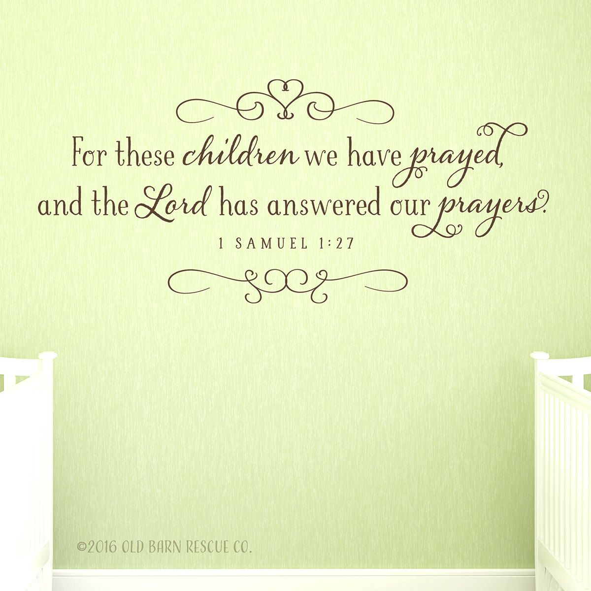 For these children we have prayed… wall decal | Farmhouse Style ...