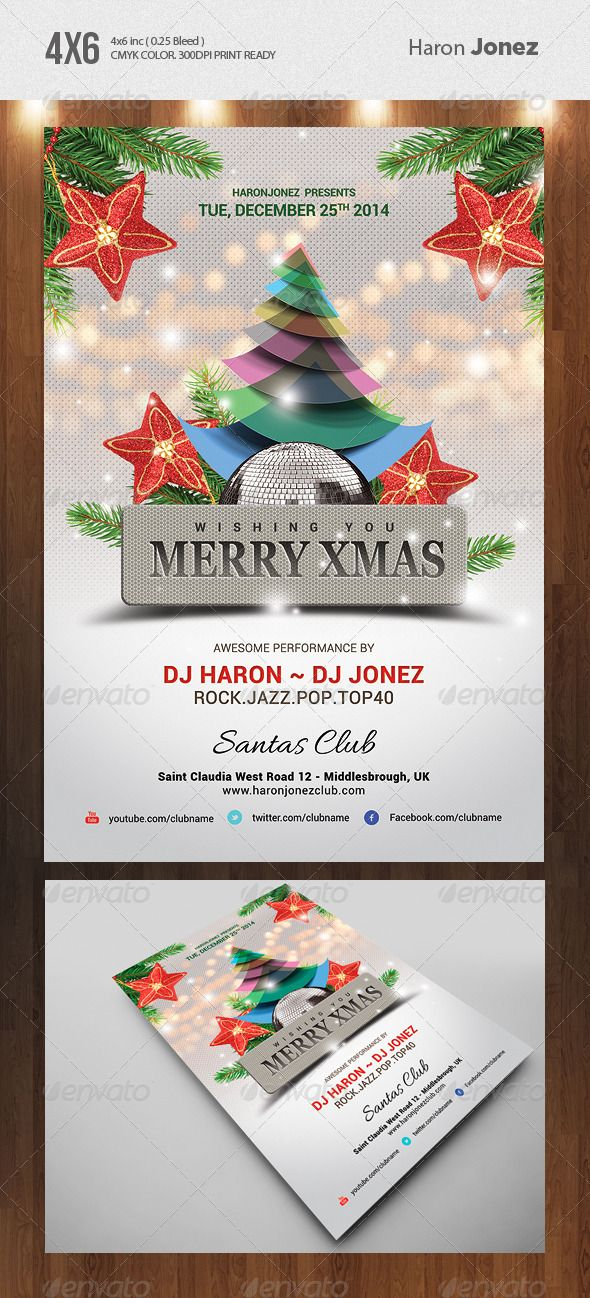 Merry Xmas Flyer Template Merry Xmas Flyer Template And Merry