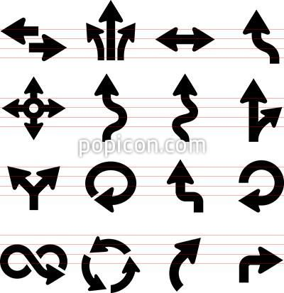 Arrow Icons 2 Black Series Arrows Symbols Pinterest Arrow