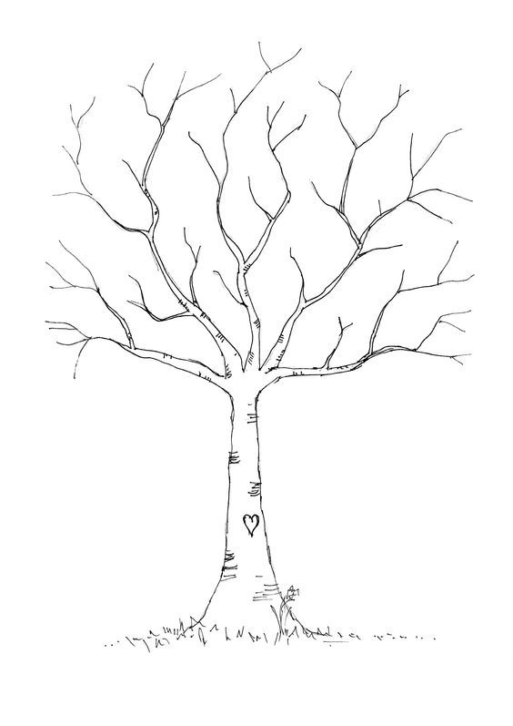 Wedding DIY: Fingerprint Tree Template to Download & Print ...