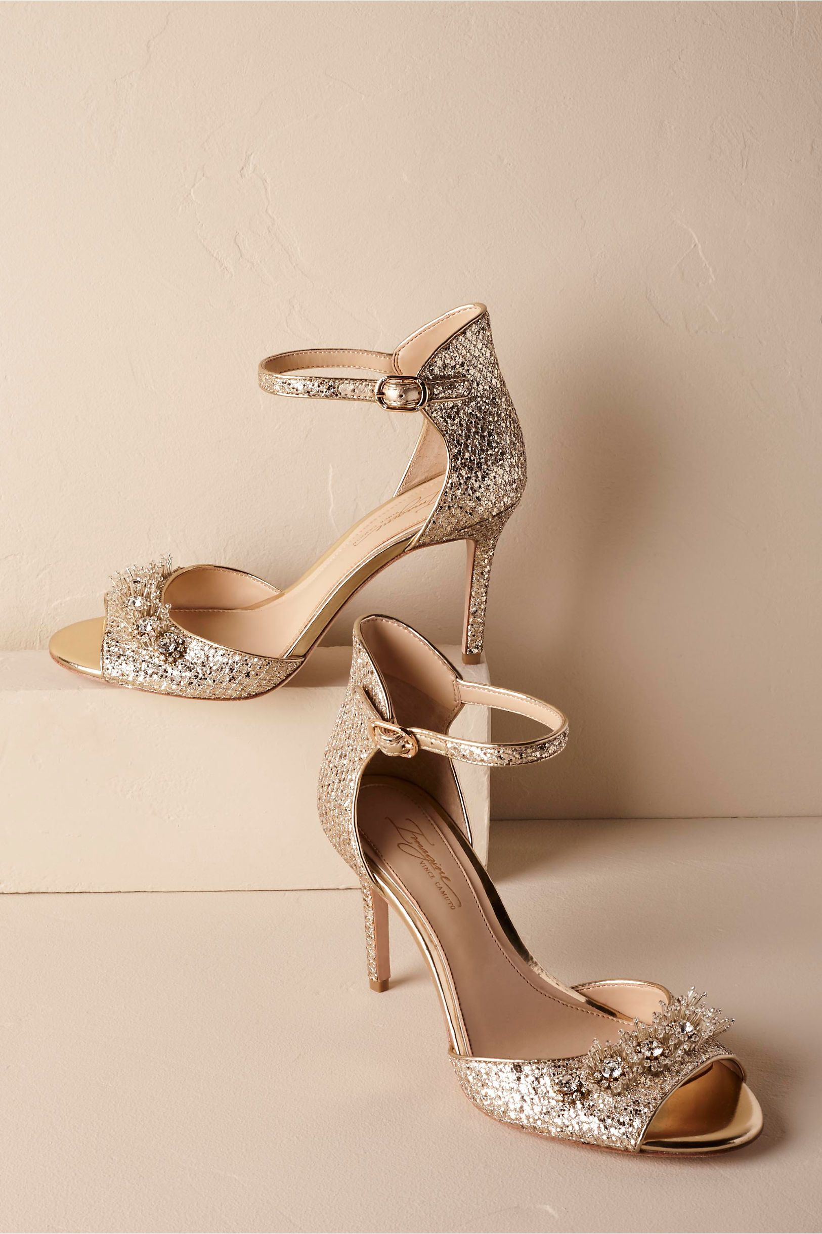c531241366c BHLDN s Brinley Heels in Gold. Find this Pin and more on Bridal Shoes ...