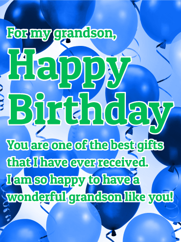 To a wonderful grandson happy birthday card elaine klimkowski birthday cards for grandson birthday greeting cards by davia free ecards bookmarktalkfo Image collections