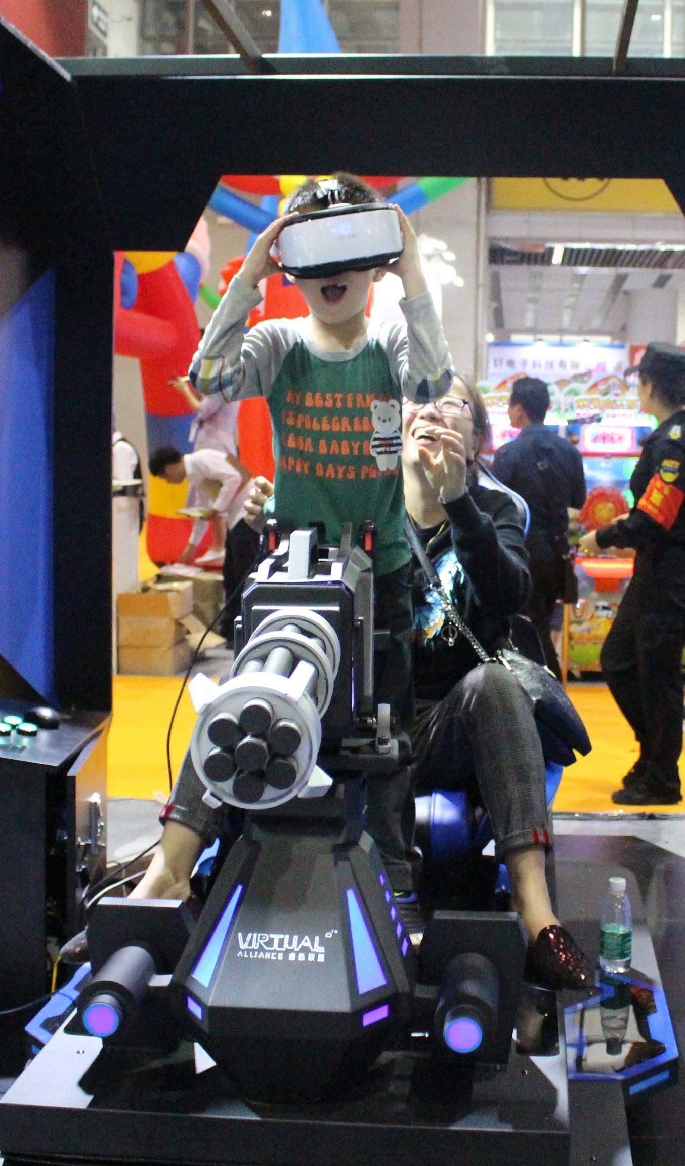 8fa37bf4e8e2 gatling gun arcade game machine vr shooting gun 9d virtual reality alliance