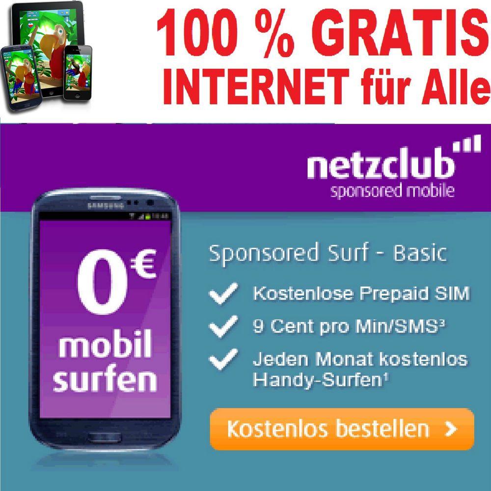Prepaid Karte Internet.Internet Flatrate Gratis Sim Karte Ohne Schufa By Netzclub O2