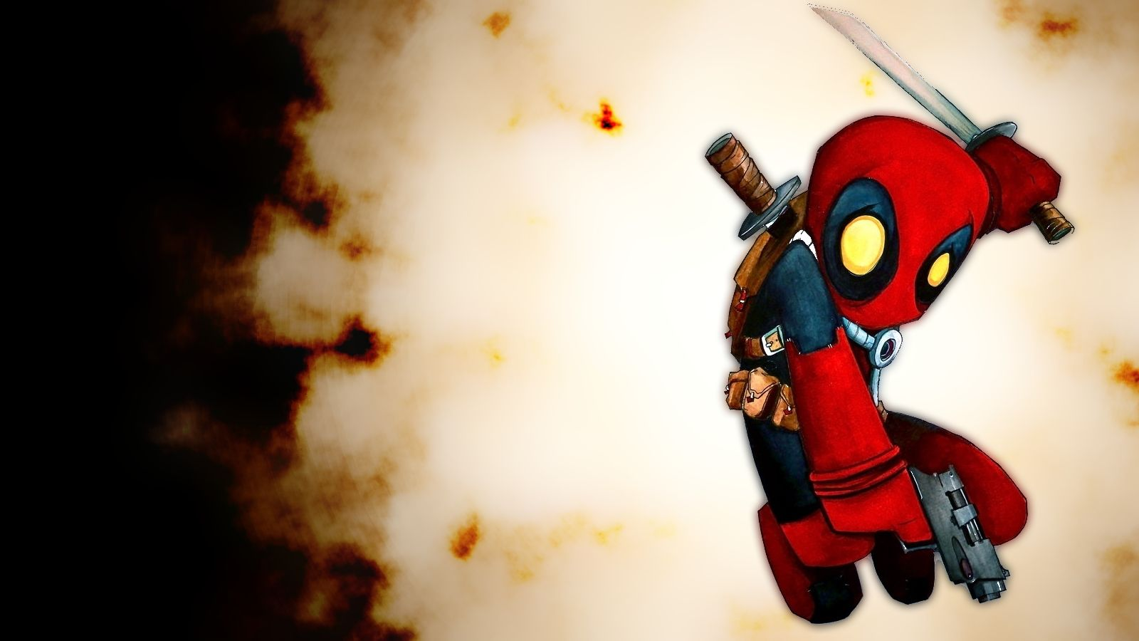 1000 Ideas About Deadpool Hd Wallpaper On Pinterest: Cute Chibi Deadpool Desktop Wallpaper