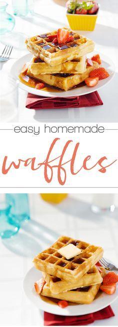 These homemade waffles look amazing! Trying this waffle recipe next Sunday!
