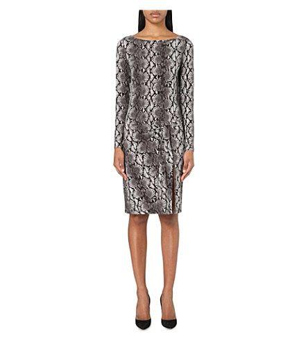 MICHAEL MICHAEL KORS Snakeskin-Print Jersey Dress. #michaelmichaelkors #cloth #dresses
