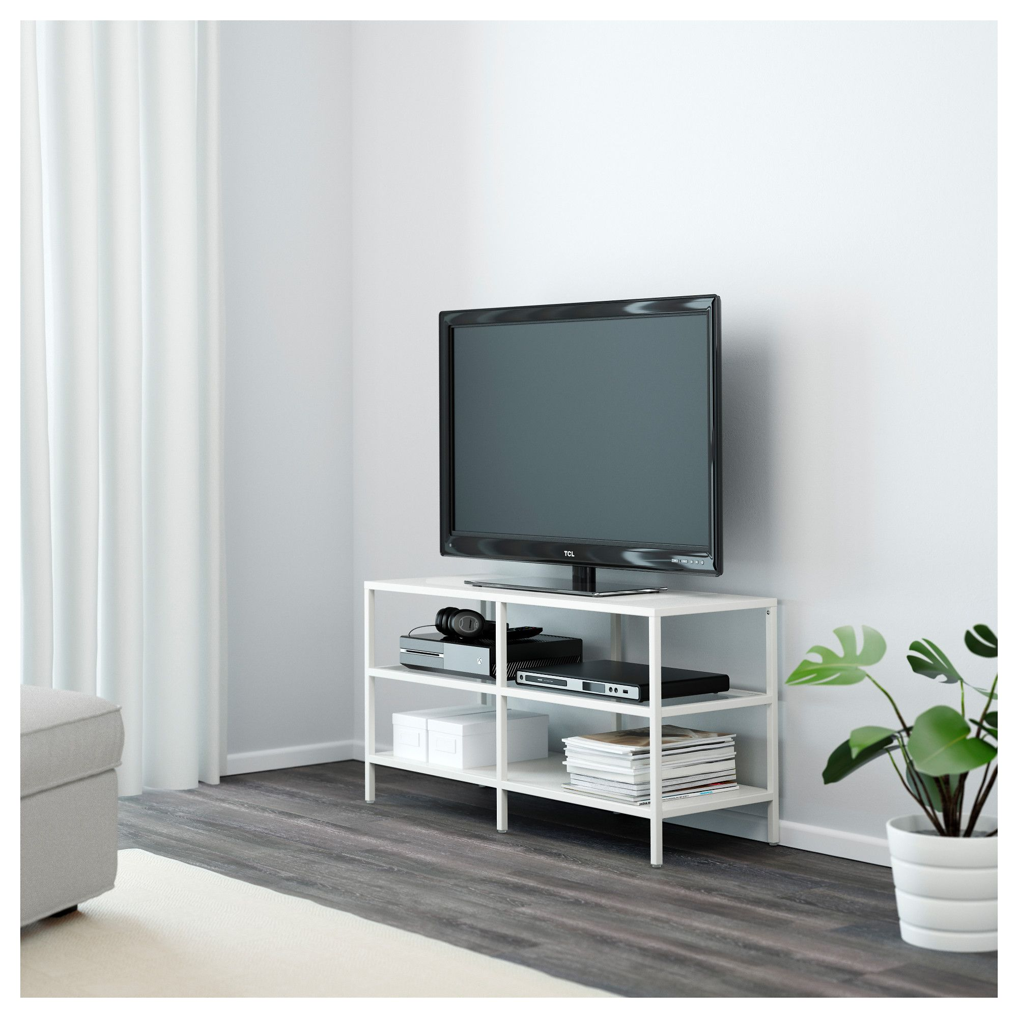 Vittsj Tv Bench White Glass Tv Bench Bench And Tvs # Commode Television Ikea