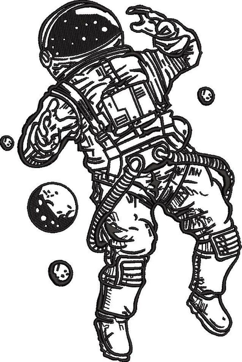 Astronaut lost Embroidery Pattern