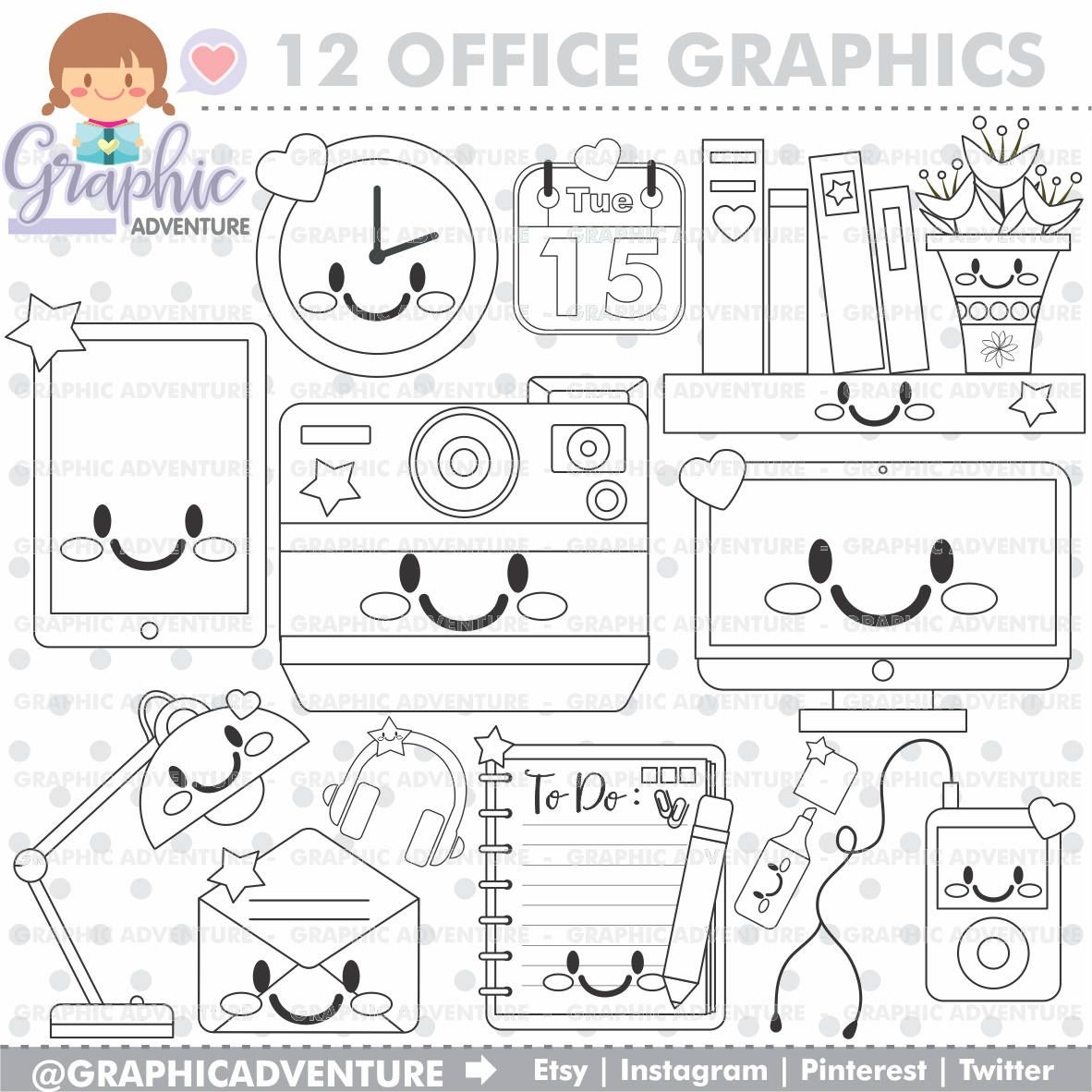 Office Stuff Stamp Commercial Use Digi Stamp Digital Image