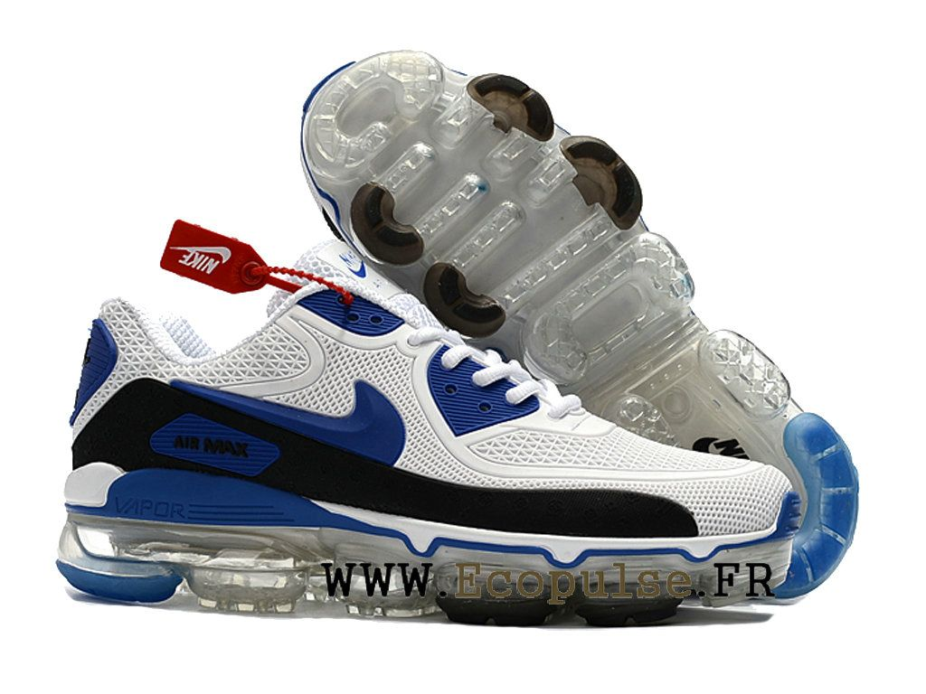 best sneakers e04fb 21b77 Nouveau 2018 Off White x Nike Air Max 90 Coussin d´air Chaussure de  BasketBall Homme Bleu blanc noir