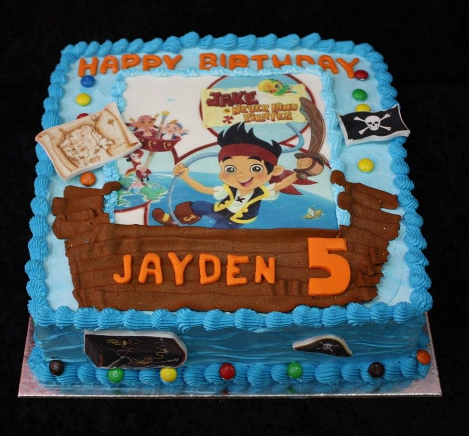 Jake and the Neverland Pirates sheet Cake Jake and the Neverland