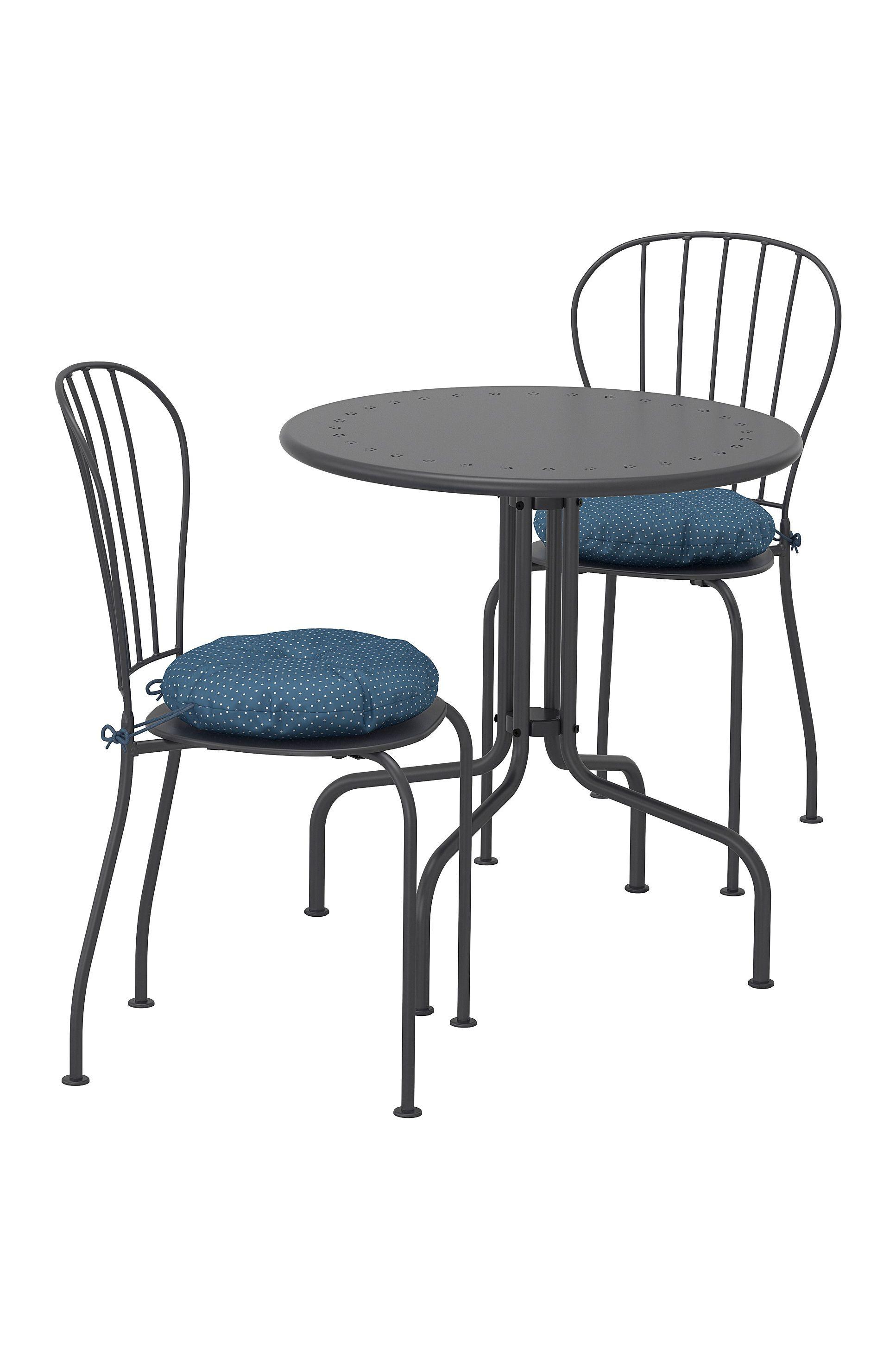 Lacko Tisch 2 Stuhle Aussen Grau Ikea Deutschland