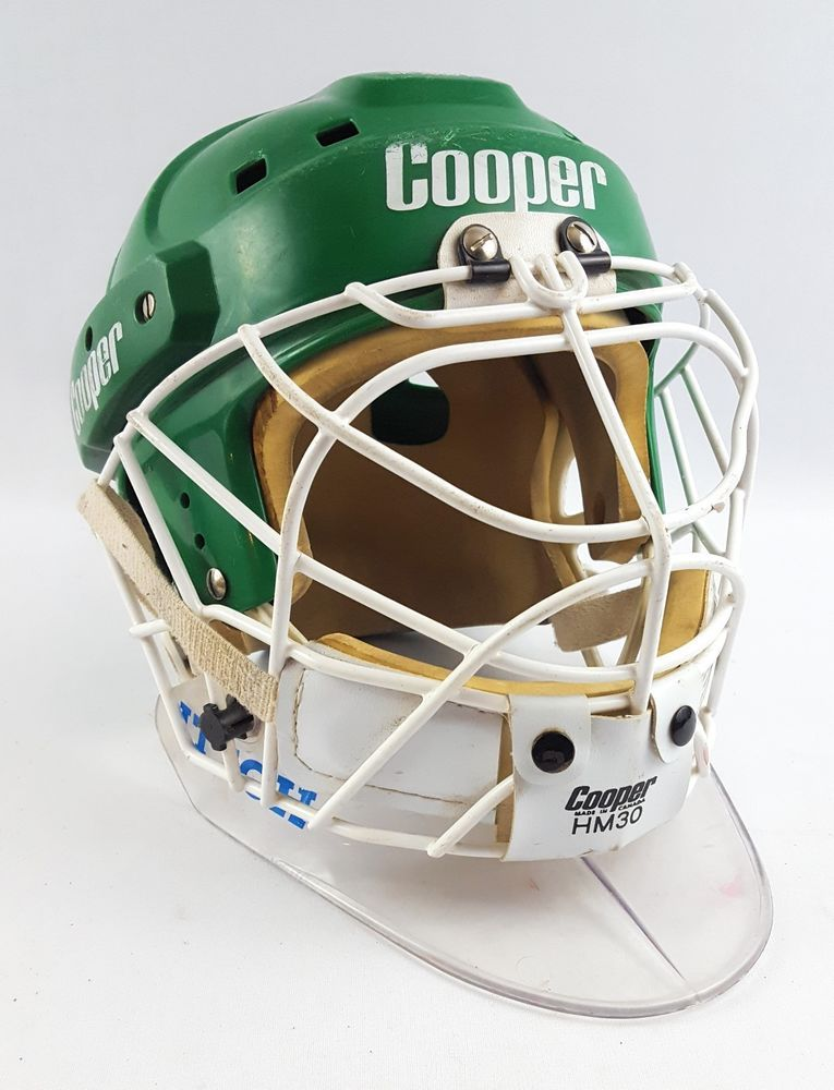 Vintage Cooper Sk2000 Hockey Helmet With Hm 30 Cage Green Size Large Hockey Helmet Hockey Helmet