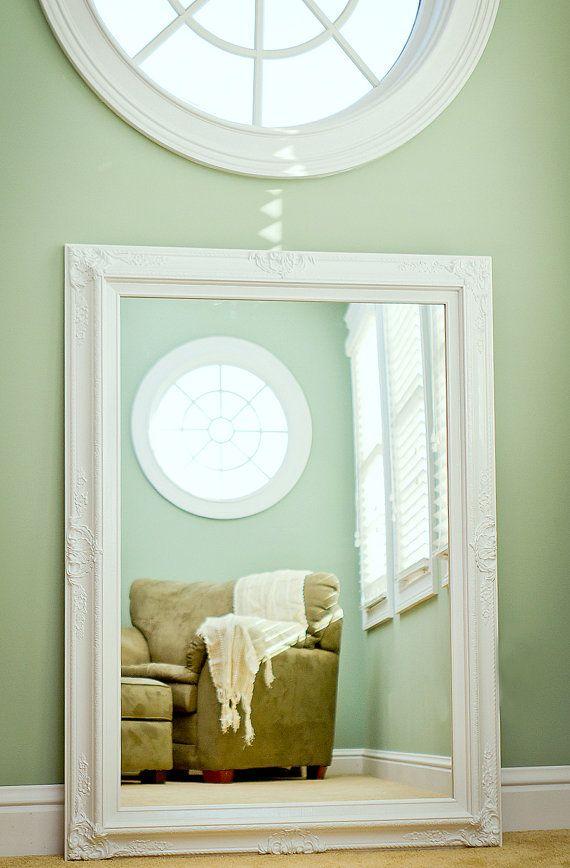 Large Bathroom Mirror Mantel 44x32 By Revivedvintage