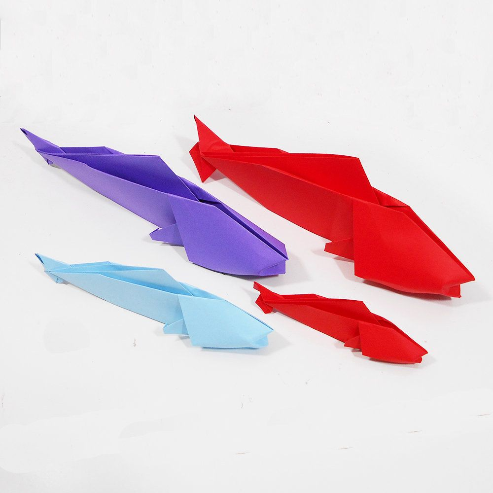 Pack of 30 Origami Salmon Fish 3D | Origami Animal | Salmon, Origami