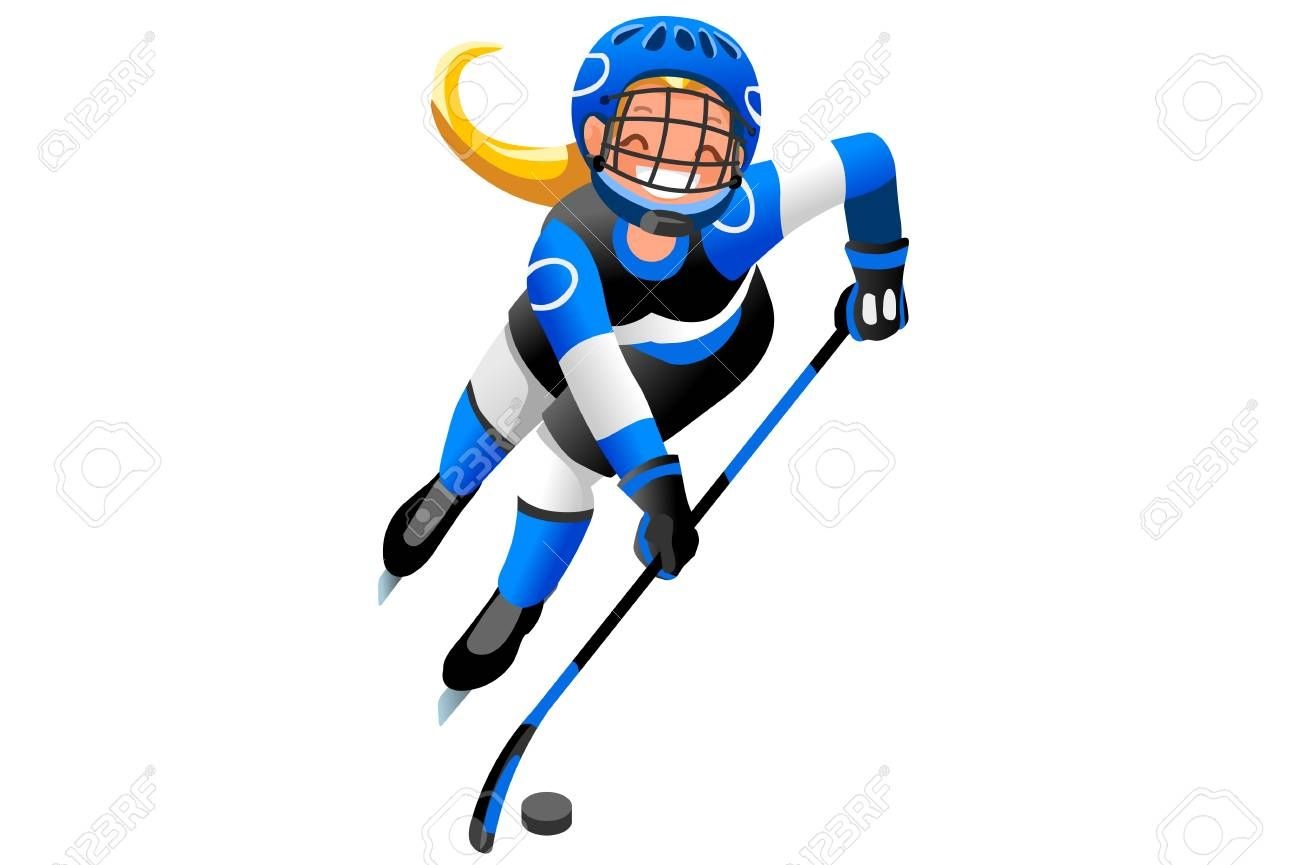Ice Hockey Players In 2020 Hockey Vector Images Image