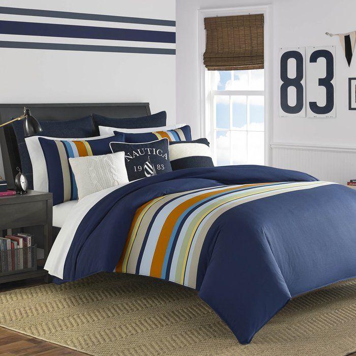Heritage Sailing Stripe Reversible Comforter Set