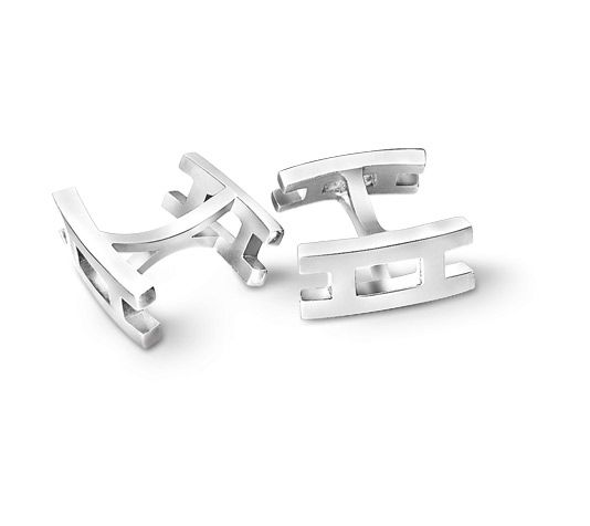 Stainless Steel Car Gearstick Cufflinks Silver UK Seller in gift bag