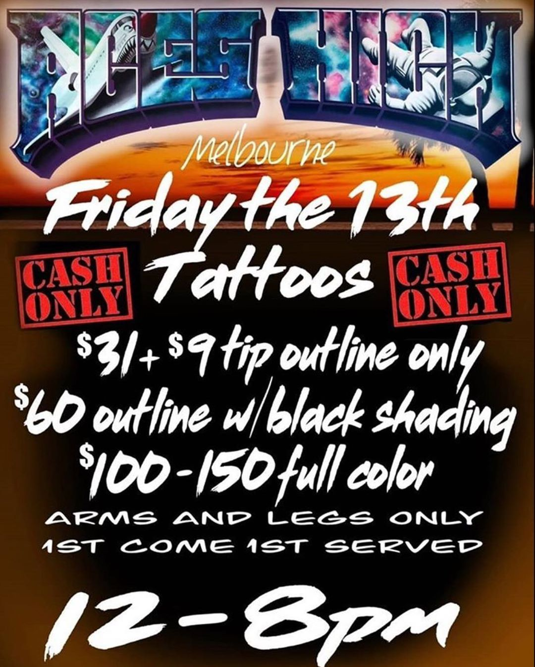 Friday The 13th Is Tomorrow Come Check Us Out We Re Open 12 7pm Today Visit Us At 4 In 2020 Friday The 13th Tattoo Lower Back Tattoos Harbor City