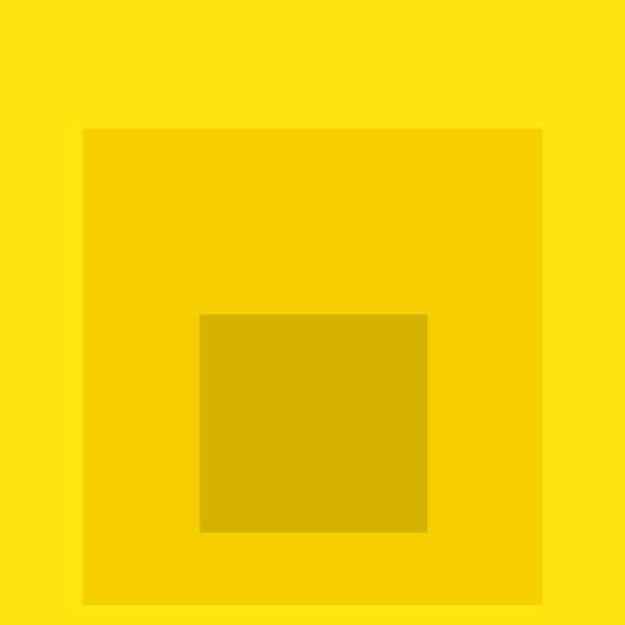 Albers Abstract Square Homage Gold Yellow by ...