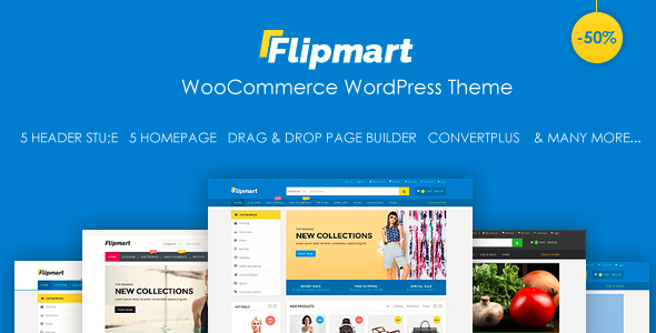 Flipmart - Responsive Ecommerce WordPress | Pinterest