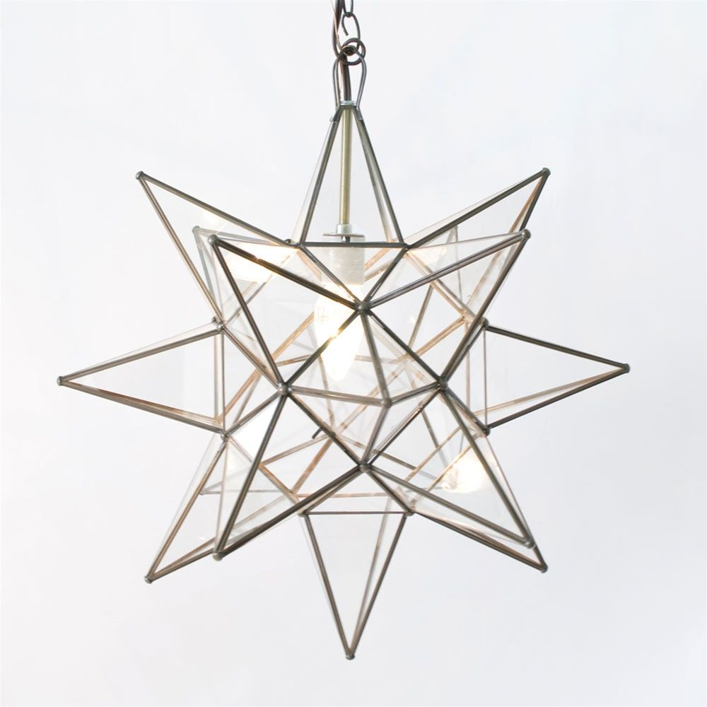 Worlds away moravian star 20 pendant chandelier extra large clear moravian star 20 pendant chandelier extra large clear glass by worlds away acs112 aloadofball