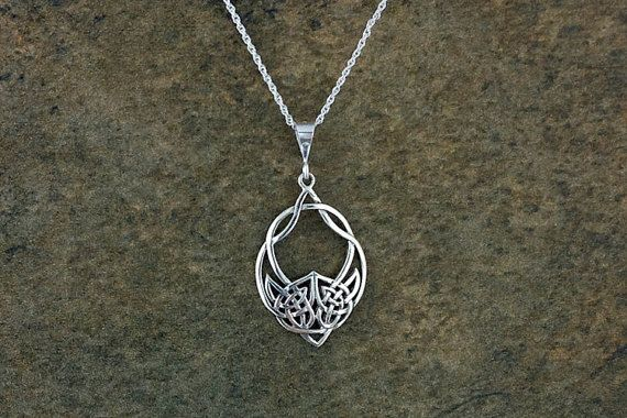 Wolf Necklace~Silver Celtic Wolf Necklace~Tribal Wolf Pendant~Wolf ...