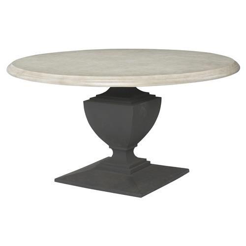 Neil French Concrete Pedestal Round Top Outdoor Dining Table Dining Table Concrete Dining Table Round Concrete Dining Table