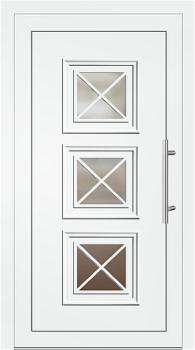 Kunststoff Haustür Modell 342 25 Weiß