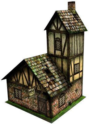 Storehouse 28mm/30mm Paper Model PDF Dave Graffam Modelspaizo com