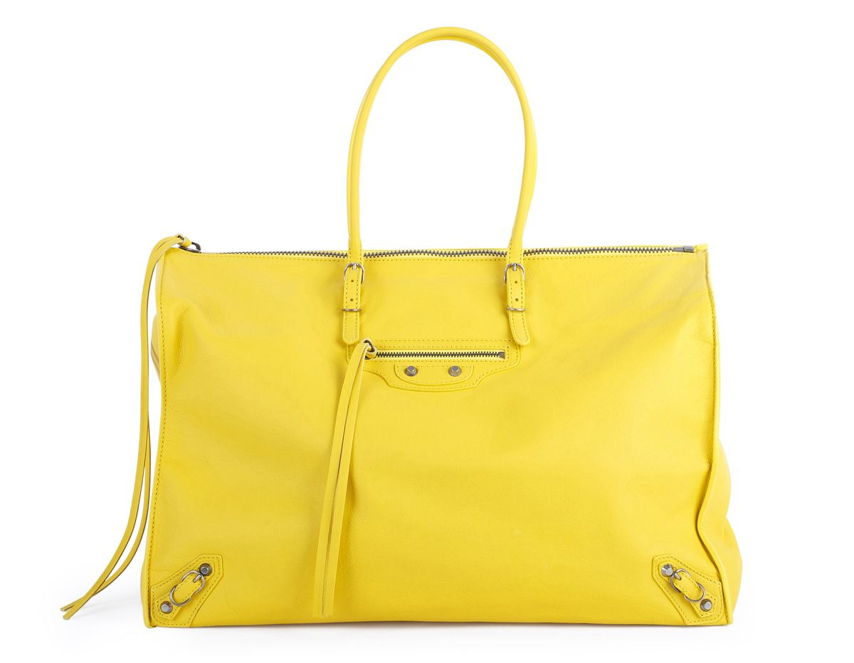 Balenciaga Papier yellow tote... I will track you down + buy you!!!